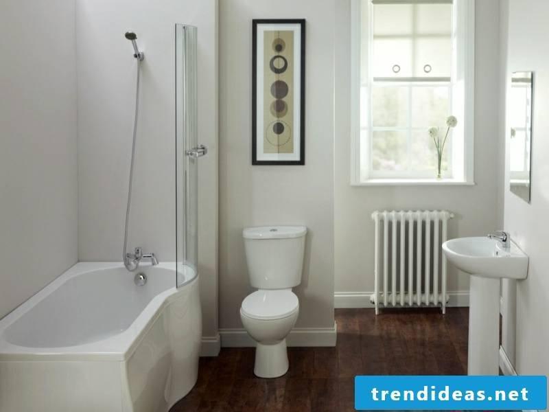 modern simple furnishings in the traumbad