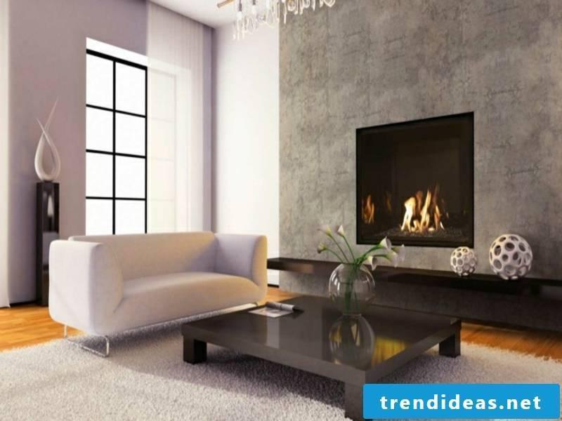 designer modern built-in fireplace