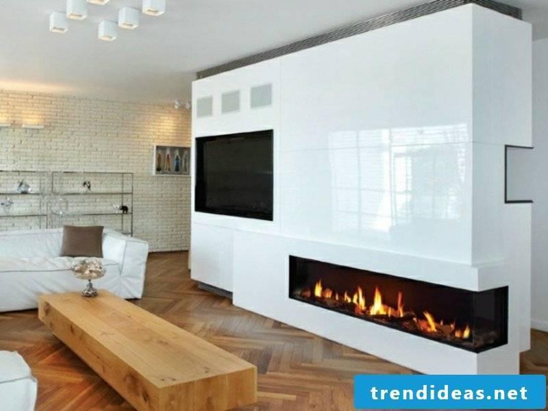 white fireplace wall