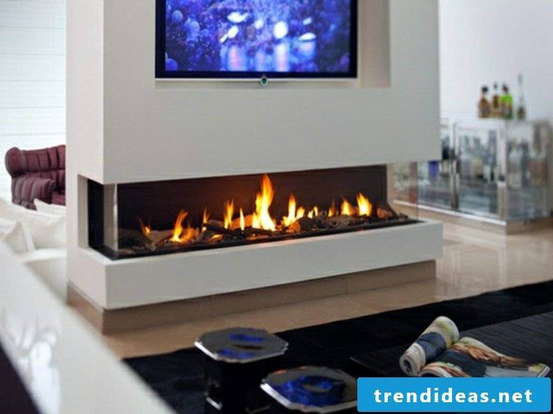 modern fireplaces with leds