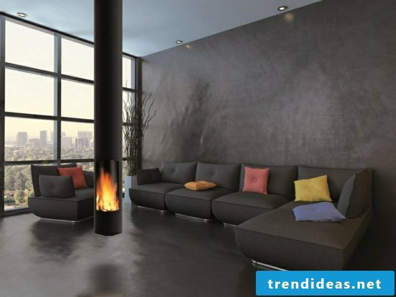 hanging fireplace for extravagance