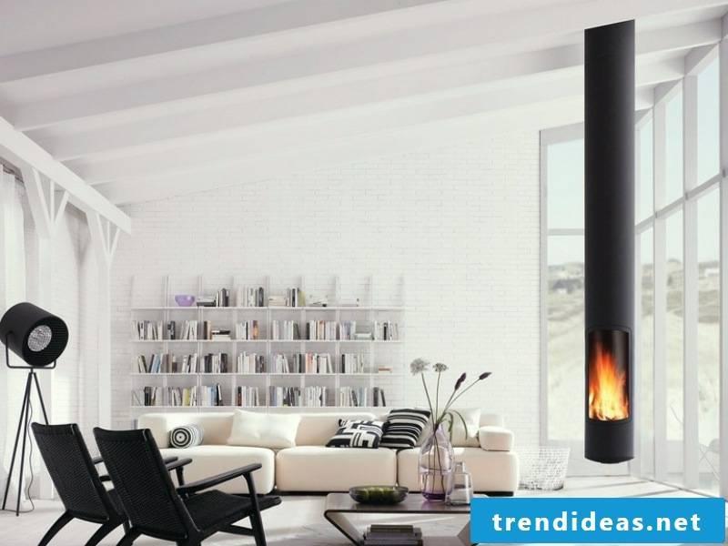 modern wood-burning fireplace