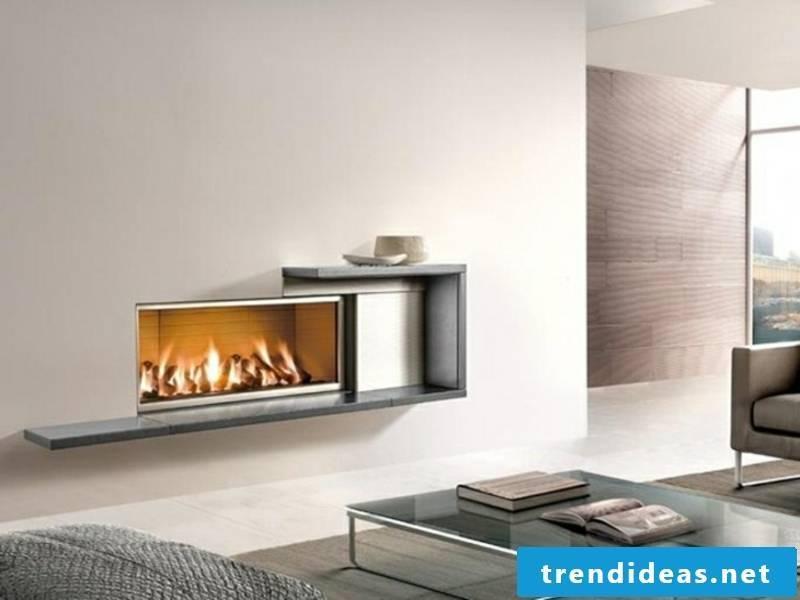 designer small fireplace