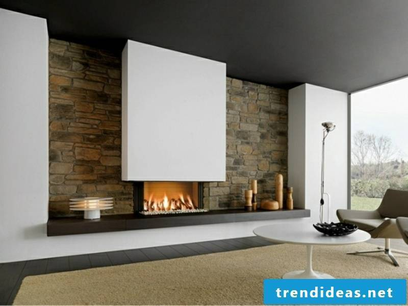 designer cozy fireplace