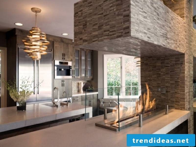 Modern fireplaces are bigger