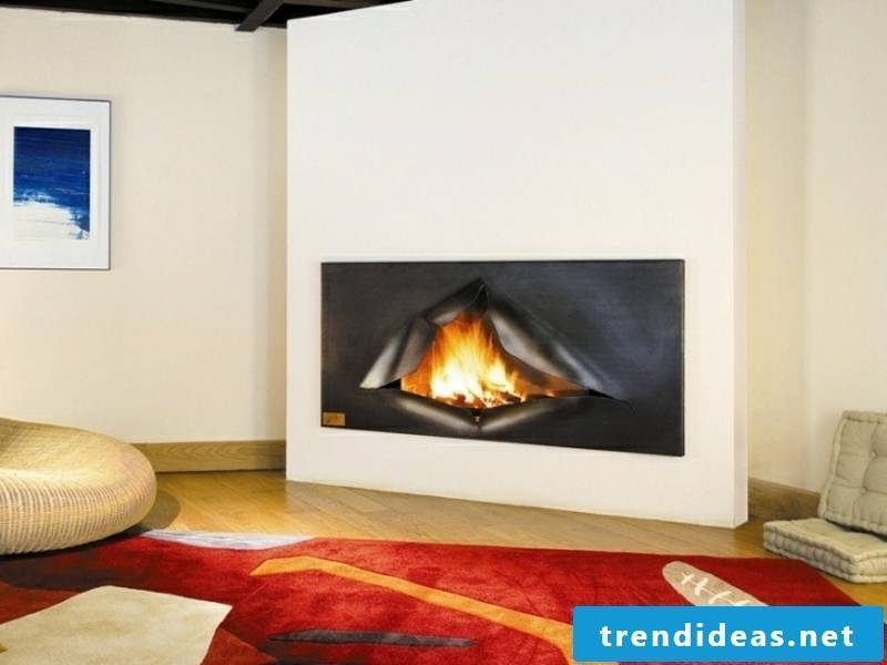 very extravagant fireplace in the living room