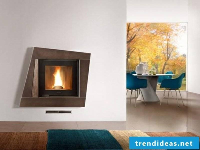 nice wall-mounted fireplace
