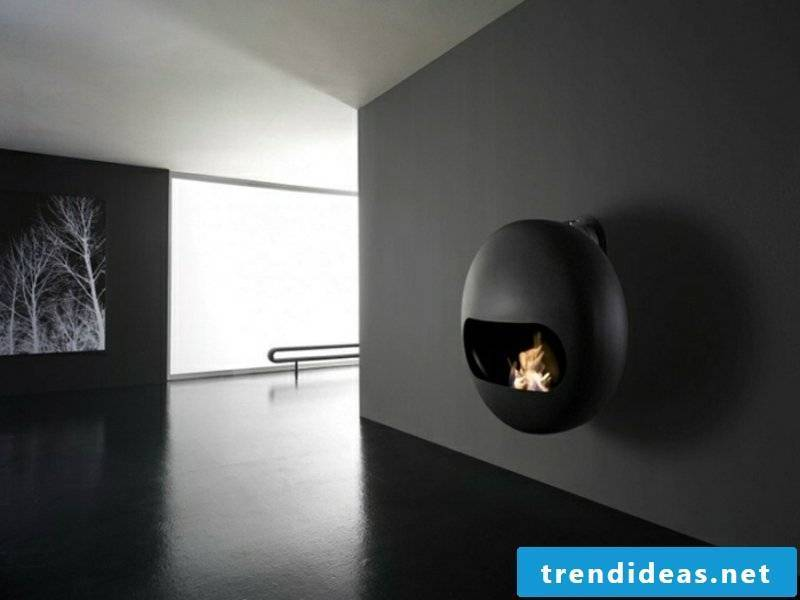 Modern fireplaces are also modernist
