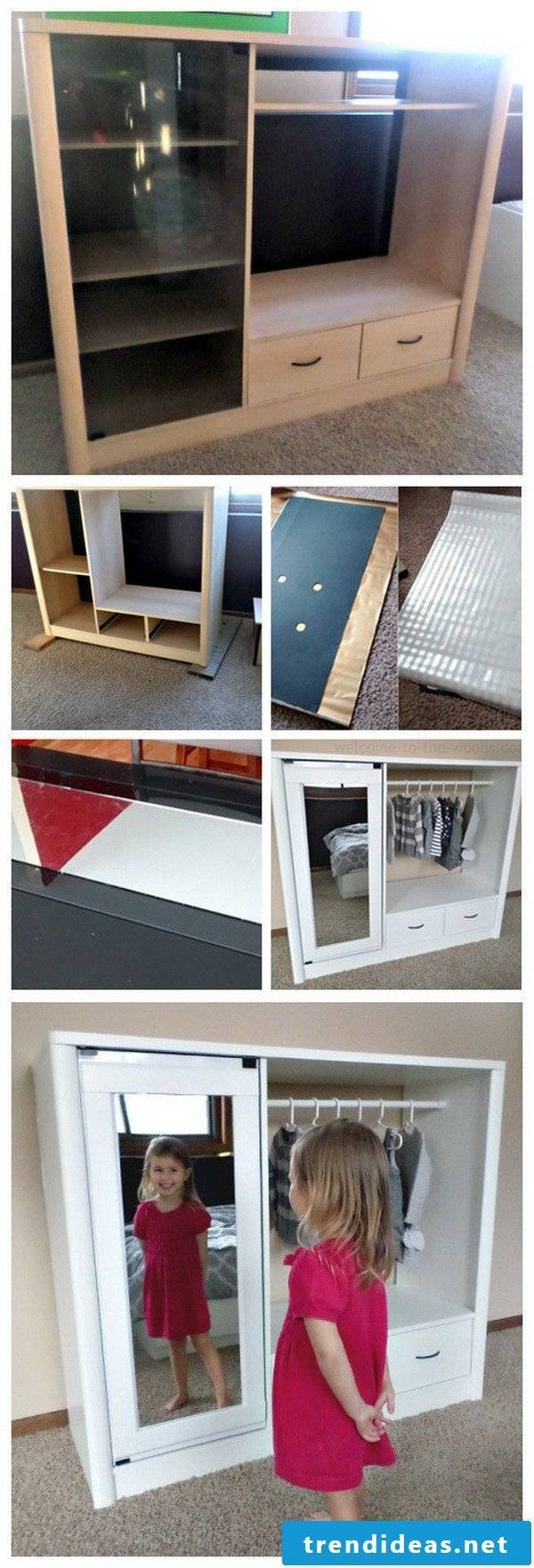 DIY furniture for the hall itself build
