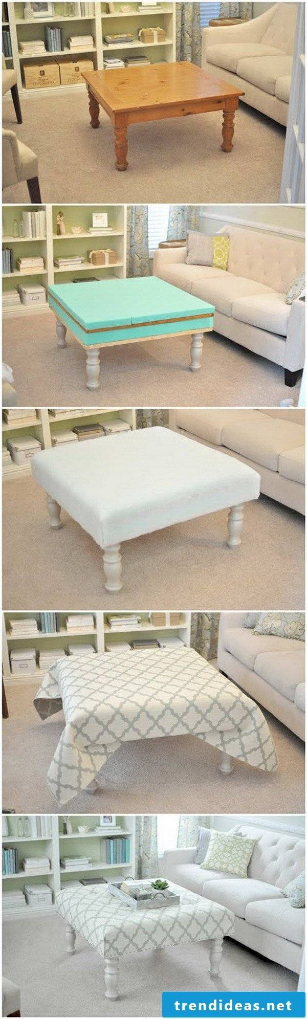 DIY build your own table: Do it yourself hacks
