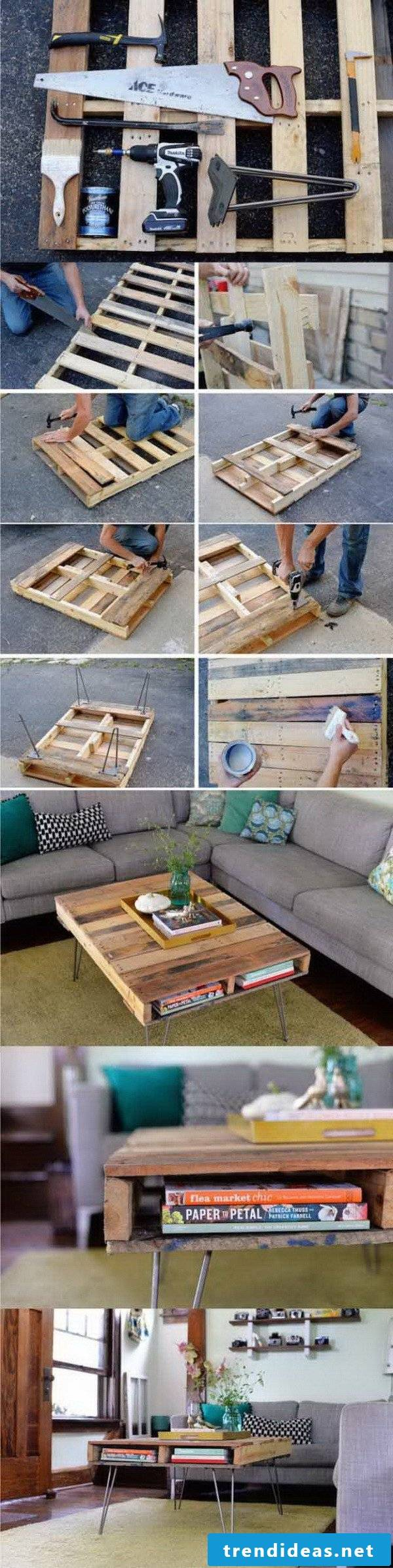 Do it yourself ideas: DIY furniture made of pallets