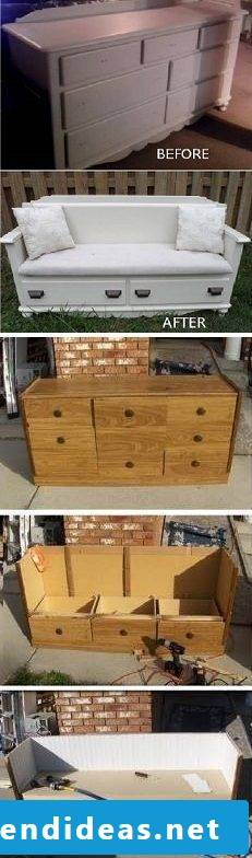 DIY ideas with an old cabinet: So many possibilities are there!