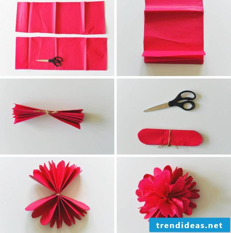 Origami flowers tinkering instructions