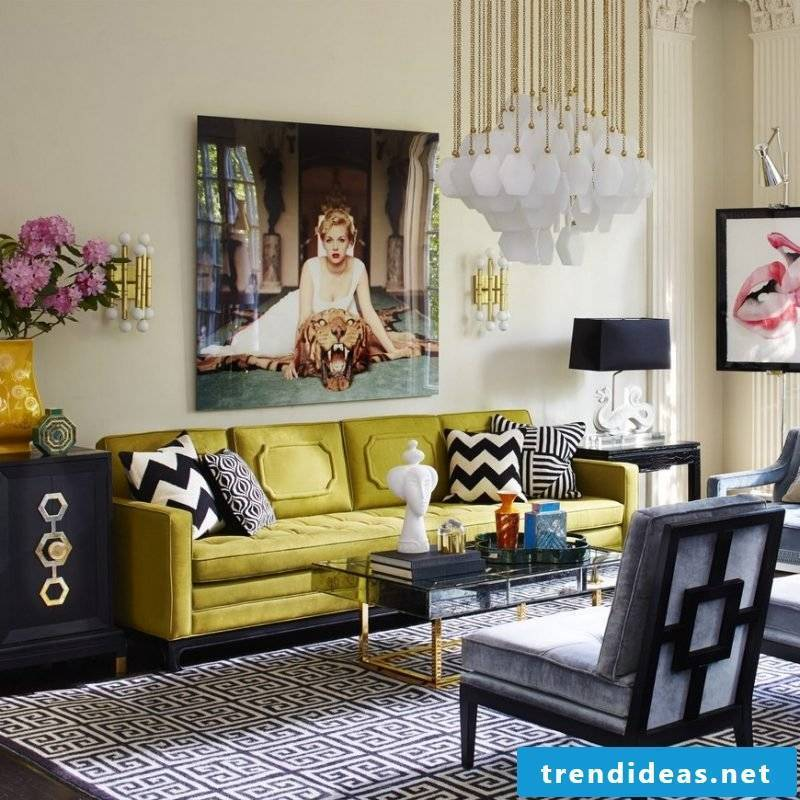 Setting up and decorating a small living room: wall decoration has a great effect!