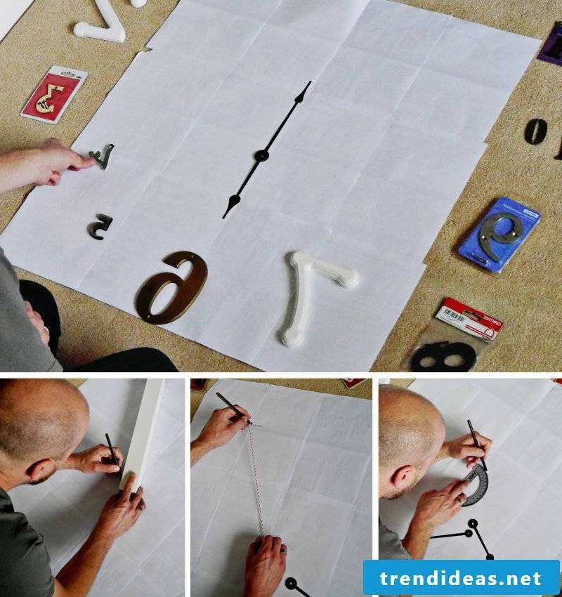 Make frameless DIY wall clock yourself: How it works: