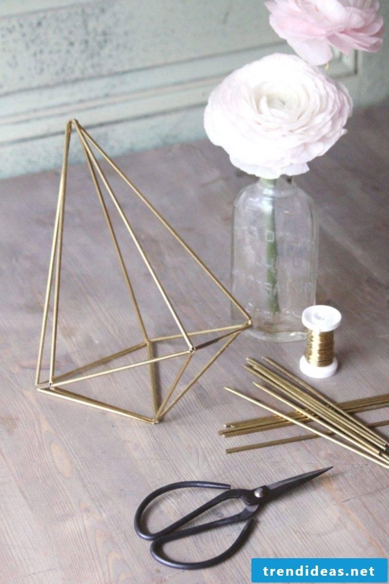 Geometric home decor: DIY make Himmeli yourself