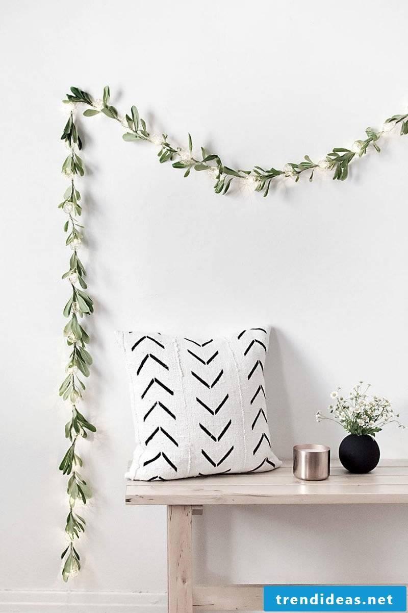 Living ideas Living room: DIY garland in minimalist style