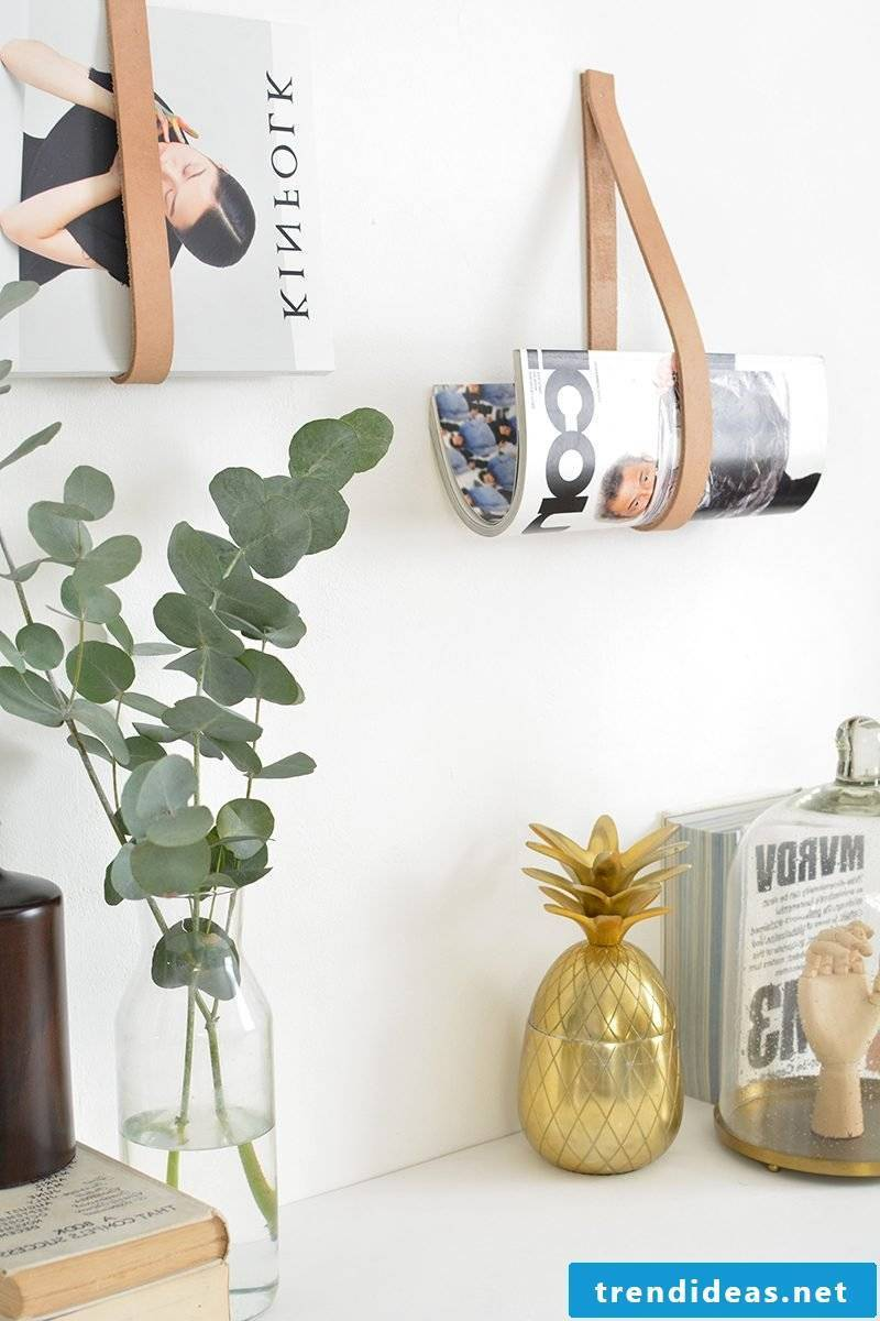Living room wall: DIY newsagent for the wall