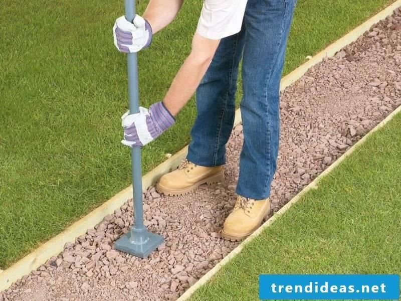 Create gravel garden - instructions step 5