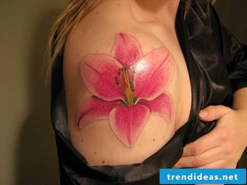 Lilies tattoo shoulder