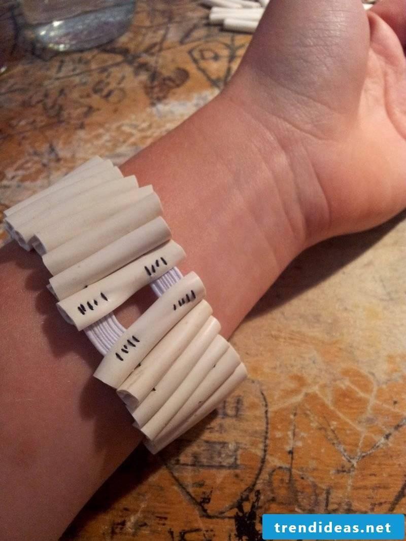 DIY bracelet hand