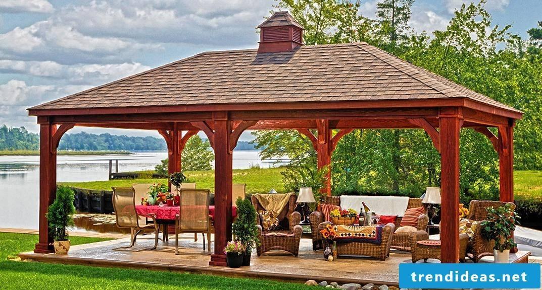 Build a fancy pavilion yourself