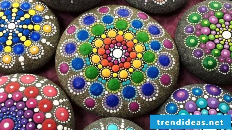 painted stones dots