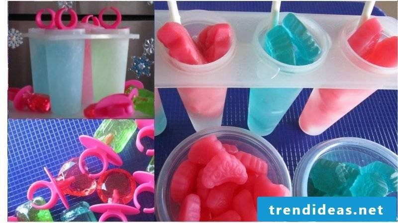 Make water ice yourself for children