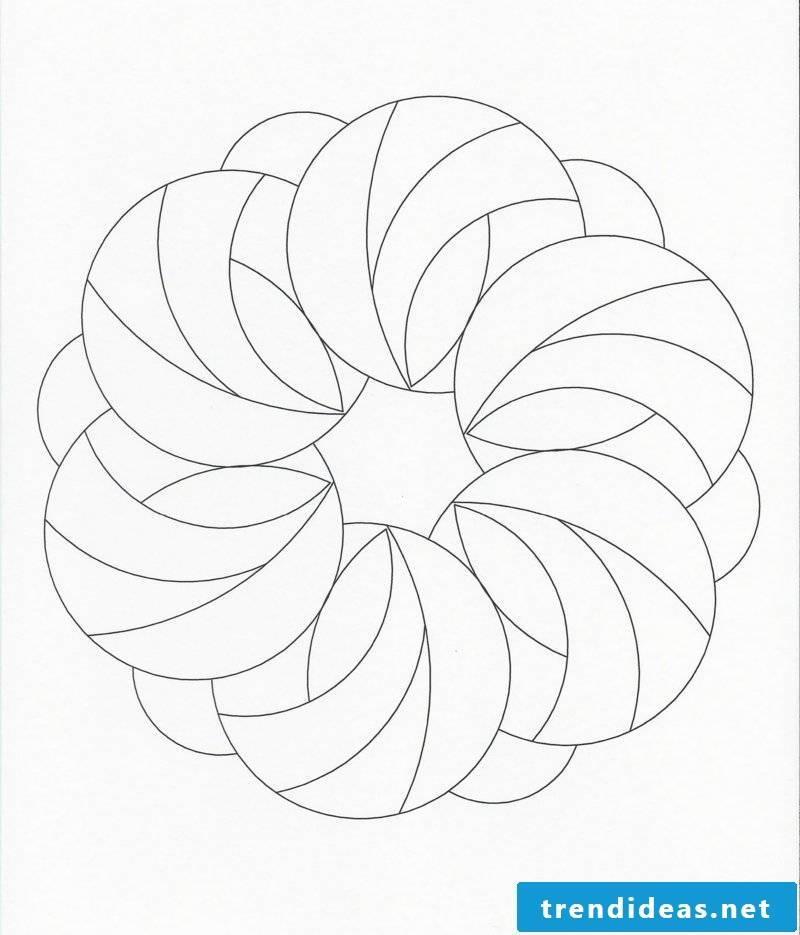 Mandala templates feeling
