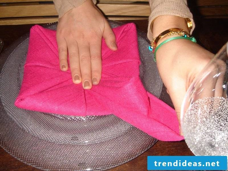 Star napkins fold step 10