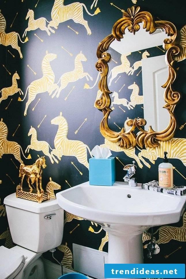 animal motifs wall wallpaper luxury bathroom ideas modern bathroom ideas
