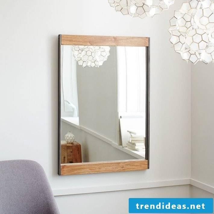 mirror metal wood lamp bathroom ideas make yourself