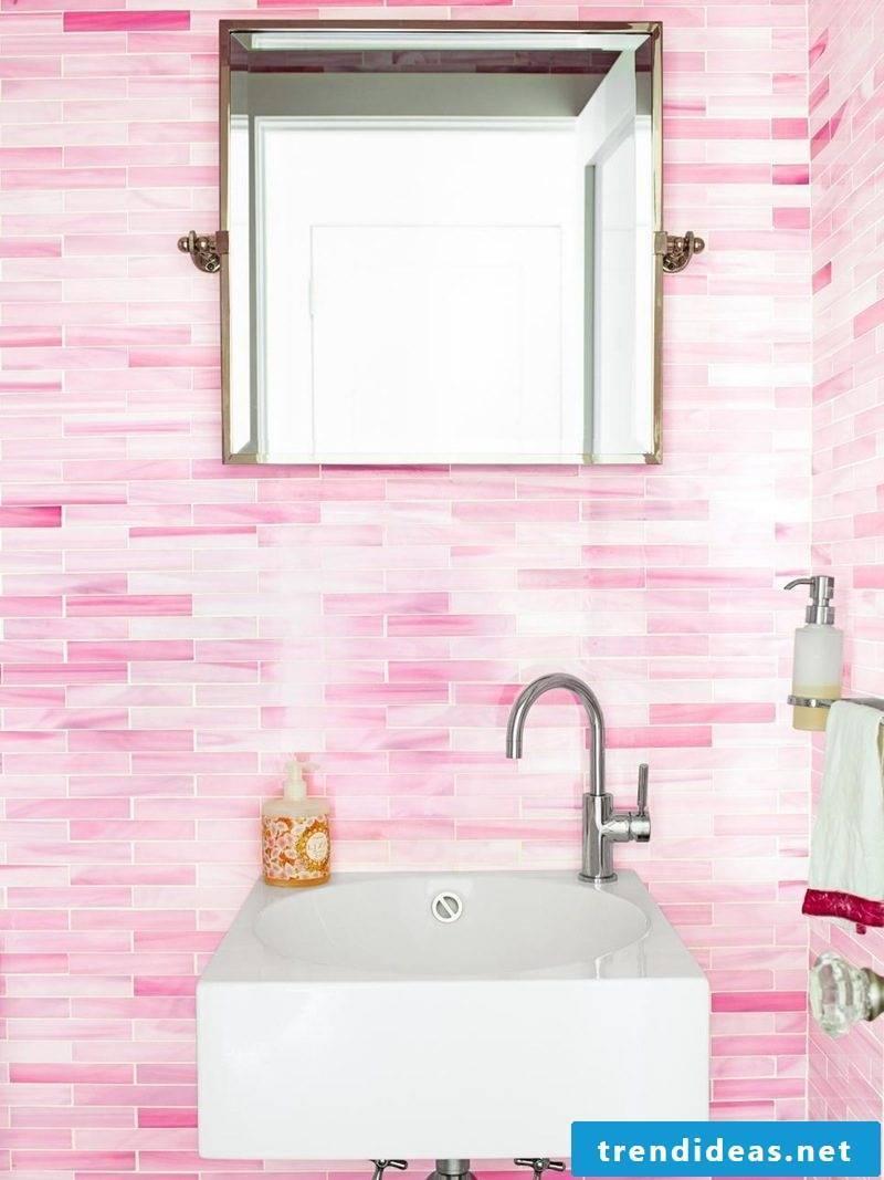 pastel wallpapers bathroom set up pink modern bathroom ideas