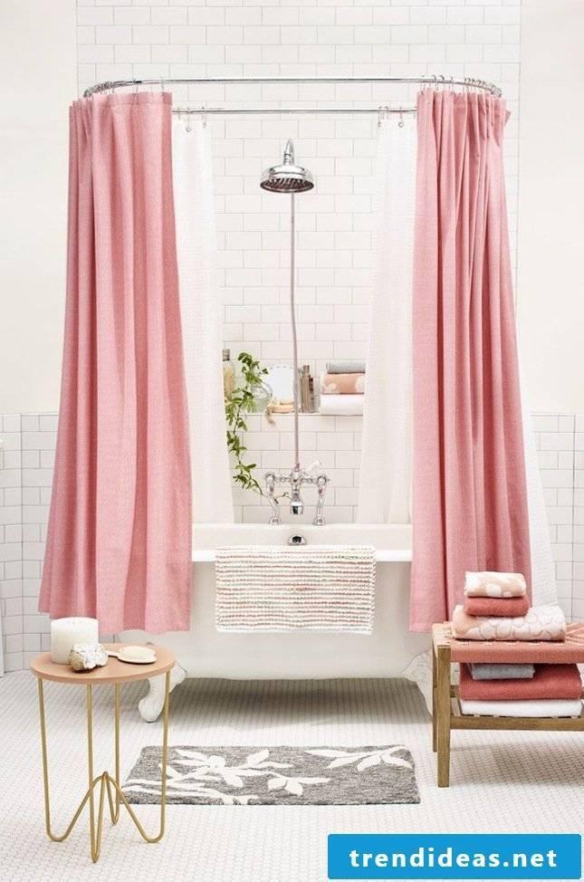 modern bathroom ideas pink curtain bathtub beautiful bathroom ideas
