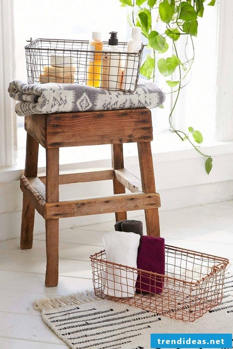 copper shopping cart bathroom ideas wooden chair bathroom ideas badaccessoires
