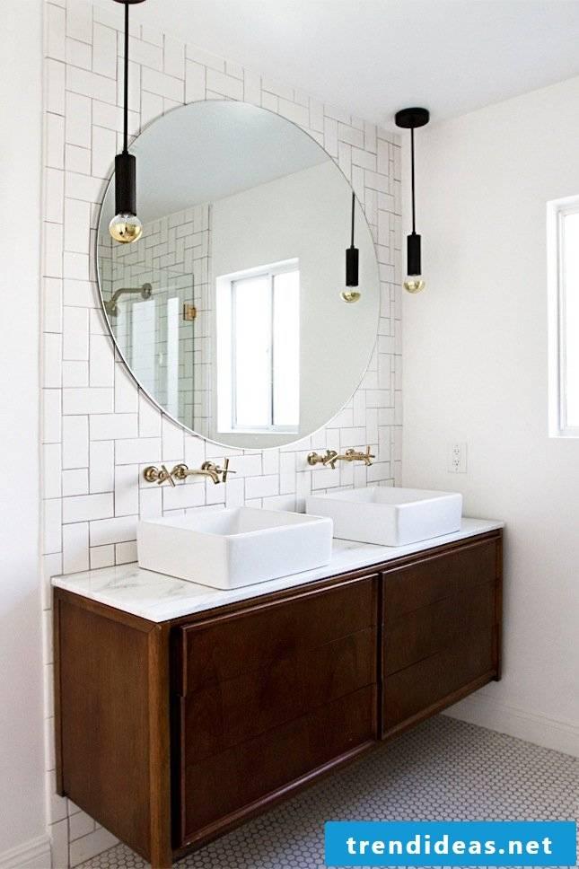 hanging lamp bathroom ideas white mirror modern bathroom ideas