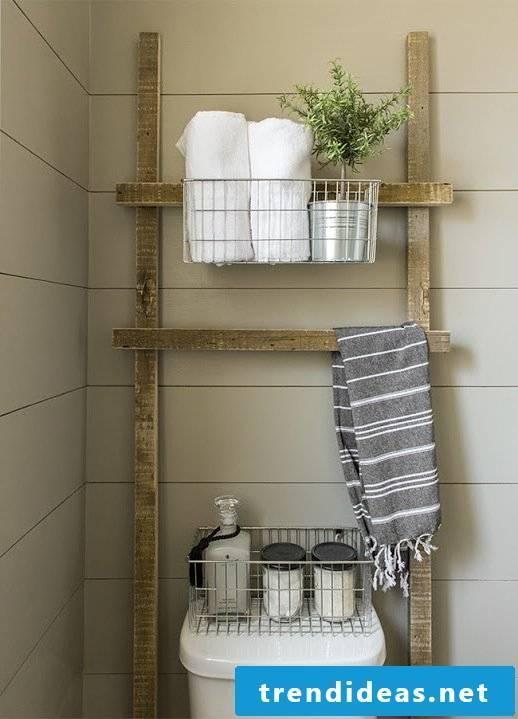 Wooden shelves make bathroom ideas for the bathroom