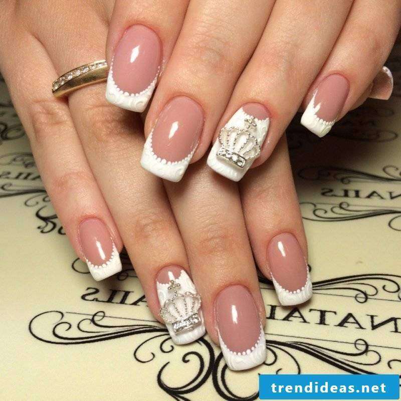 Nail art French 3D