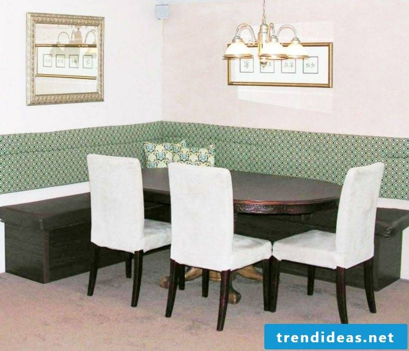 Corner bench elegant design dining room