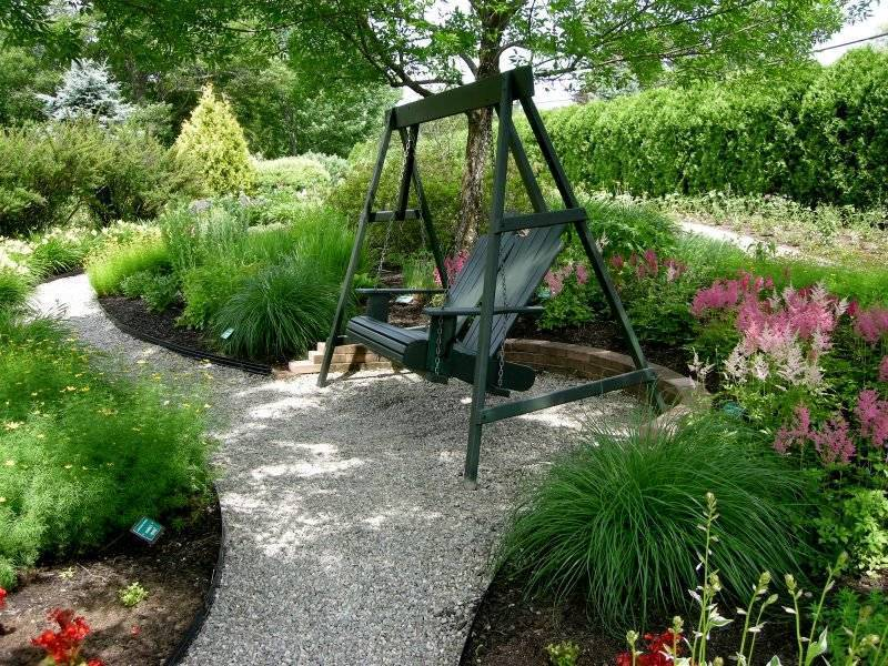 Create a gravel garden and create a fascinating recreation area