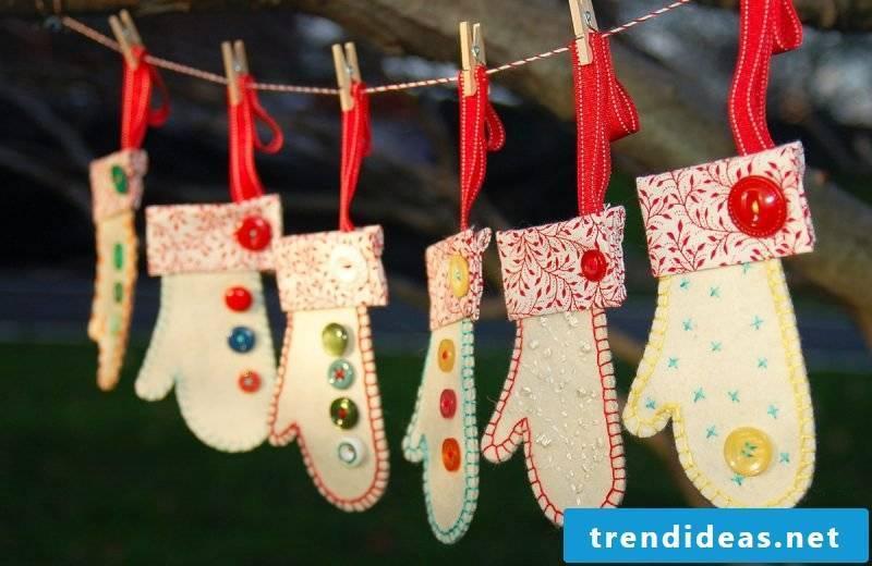 Advent calendars sew gloves