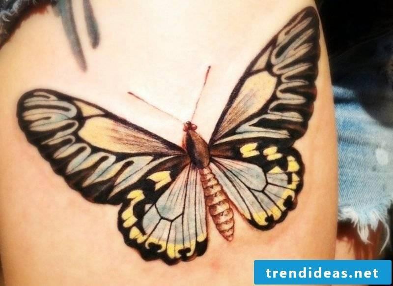 big tattoo butterfly