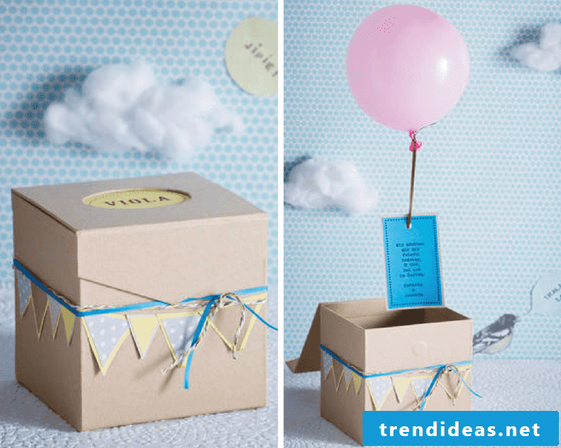Surprise box as invitation cards for free printing