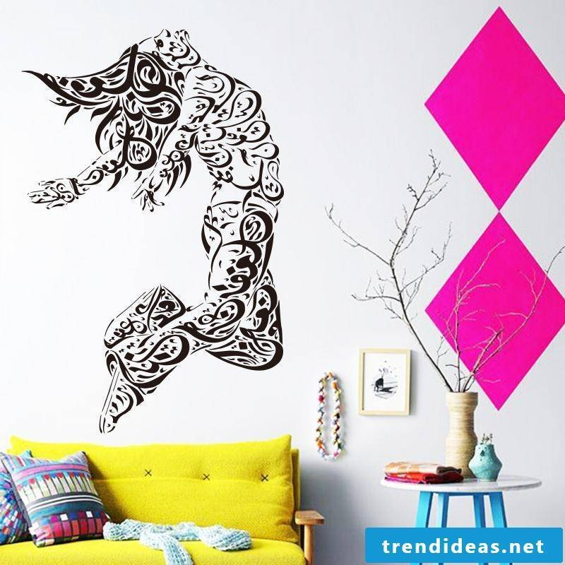 wall design living room ideas wall decal