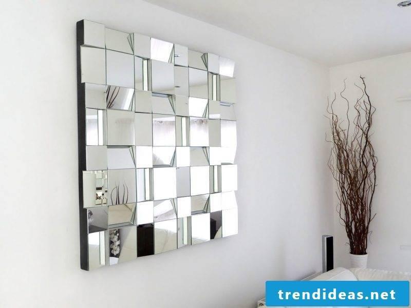 wall design living room ideas mirror