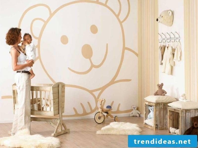 wall design nursery ideas