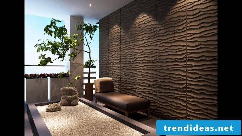 walls shape color brown