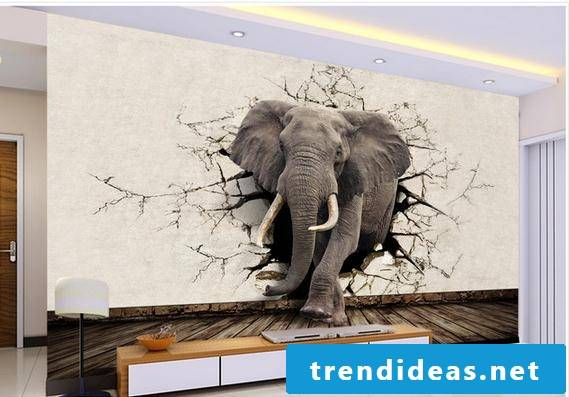 3D wall art wall design living room ideas