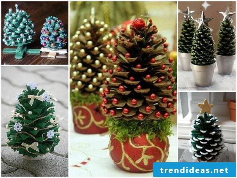 Craft with pine cones and decorate