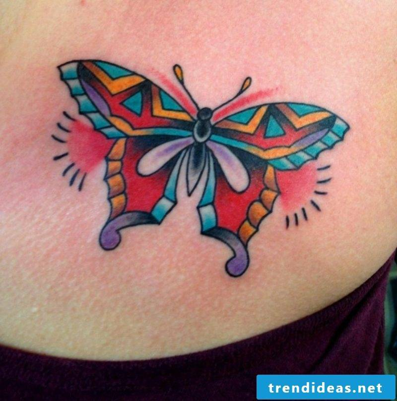 Butterfly tattoos butterfly in ethnic style